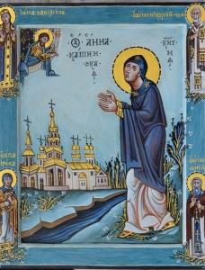 св. Анна Кашинская со святыми на полях 32Х44